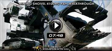 Walkthrough Mining Shovel 4100AC P&H Video