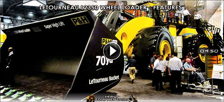Letourneau L2350 Wheel Loader Video