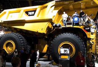 Caterpillar 797F Mining Truck on the Exhibition at the Vegas
