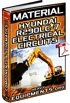 hyundai r290lc 7 excavator electrical circuits components schematic excavator service download hyundai r290lc 7 excavator electrical circuits material