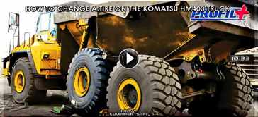 How to Change a Tire on the Komatsu HM400 Articulated Truck Video