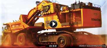 Sleipner E550 Transport System Moving a Komatsu PC5500 Shovel Video