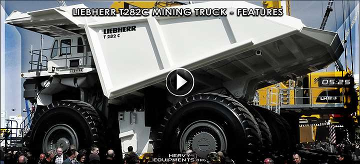 Liebherr T282C Mining Truck Video