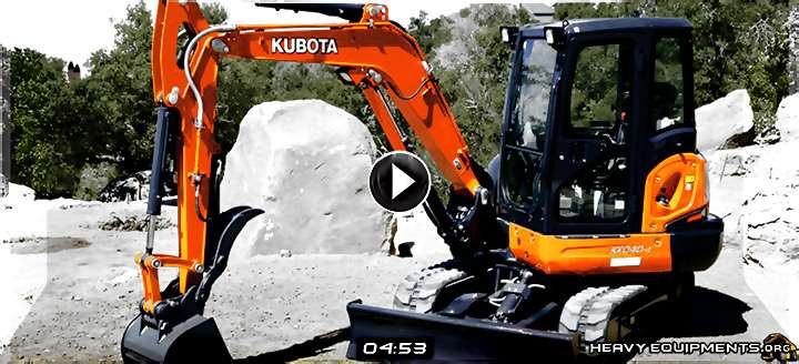How to Operate a Kubota Mini-Excavator Video