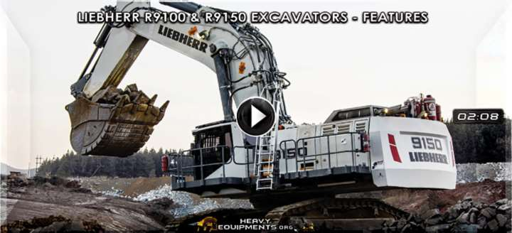 Liebherr R9100 & R9150 Hydraulic Excavators Video