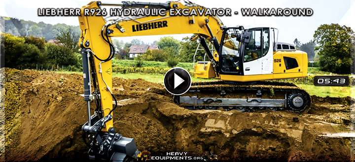 Liebherr R926 Hydraulic Excavator Video