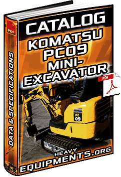 Specalog for Komatsu PC09-1 Mini-Excavator – Specs
