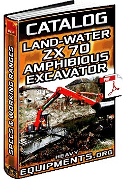 Specalog: Land & Water ZX70 Amphibious Excavator Specifications