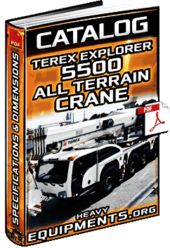 Specalog: Terex Explorer 5500 All Terrain Crane – Specifications & Dimensions