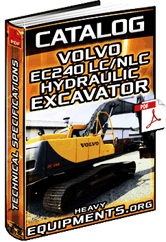 Specalog for Volvo EC240LC/NLC Excavator - Technical Specifications