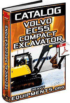 Specalog: Volvo EC55 Compact Excavator – Technical Specifications & Dimensions