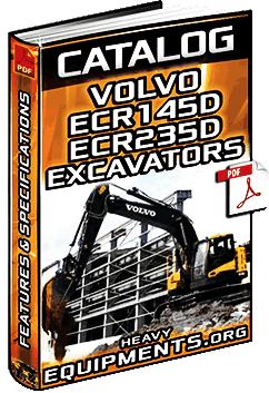 Specalog for Volvo ECR145D & ECR235D Hydraulic Excavators – Specs