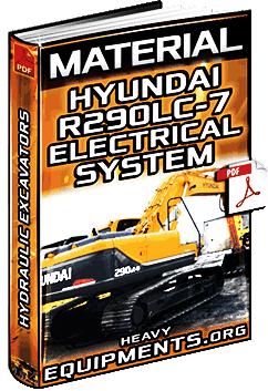 Hyundai R290LC-7 Hydraulic Excavator Electrical System - Component Location