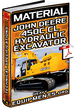 Material: John Deere 450C CL Hydraulic Excavator – Technical Specifications