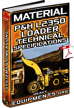 Material: P&H L2350 II Wheel Loader – Technical Specifications & Dimensions