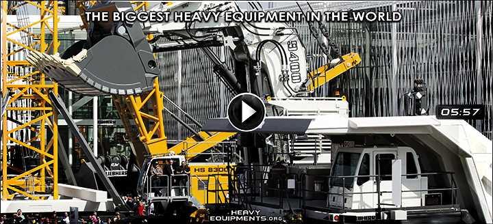 The biggest Heavy Equipment in the World - Liebherr, Hitachi, Letourneau & Komatsu