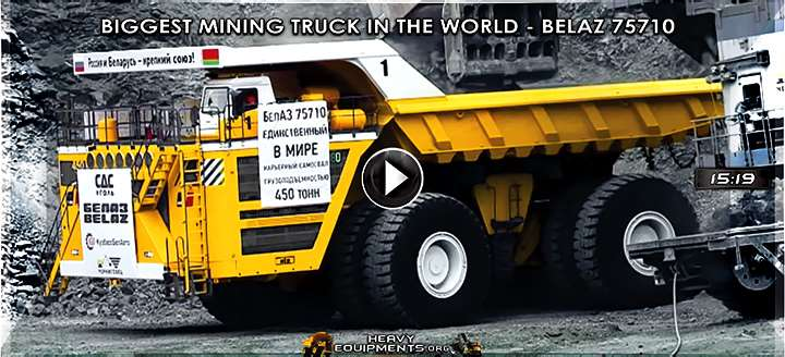 Video: The Biggest Mining Truck in The World - BelAZ 75710 with 450 tons in 2017