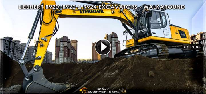 Video: Liebherr R920, R922 & R924 Excavators - Walkaround & Features