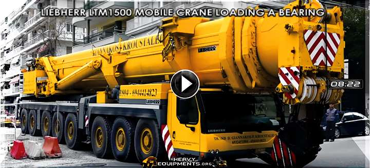 Video: Operating the Liebherr LTM1500-8.1 Mobile Crane - Loading a Giant Bearing