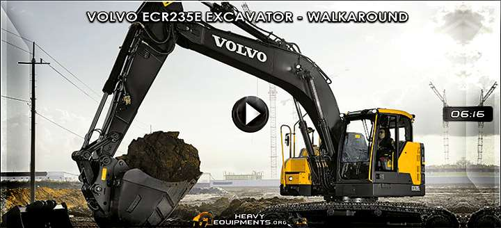 Video: Volvo ECR235E Hydraulic Excavator – Walkaround & Features