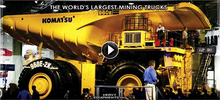 Video: The World's Largest Mining Trucks – Hitachi, Liebherr, Komatsu, CAT & Belaz