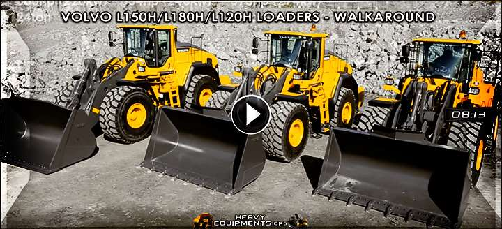 Volvo L150H, L180H & L220H Wheel Loaders - Walkaround & Features Video